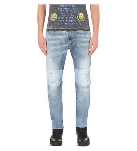DIESEL Narrot 0672 distressed tapered joggjeans (Denim0672g
