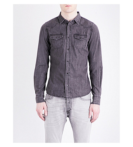 DIESEL New-Sonorae denim shirt (Black