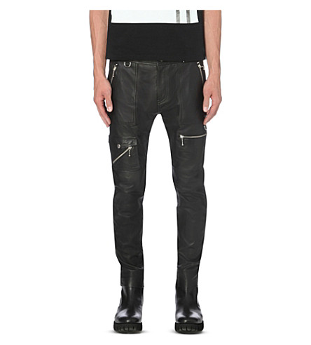 DIESEL P-grundy leather trousers (Black