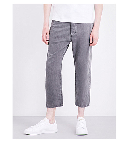 DIESEL Rhial 0681D cropped straight stretch-cotton trousers (Black