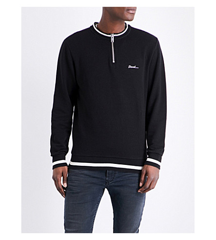 DIESEL S-allen cotton sweatshirt (Black