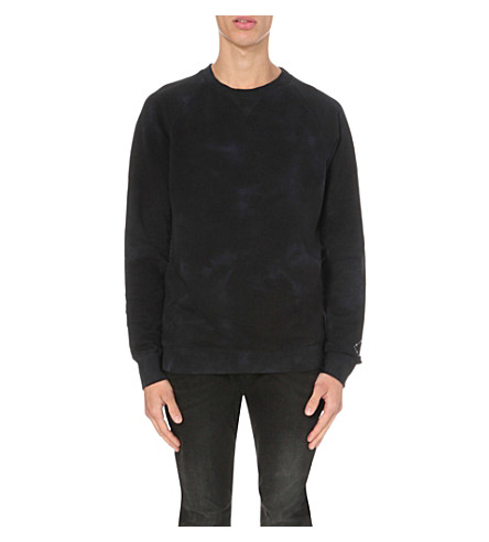 DIESEL S-Bros cotton sweatshirt (Blue