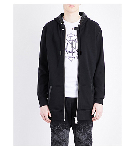 DIESEL S-Cad cotton-blend hoody (Black