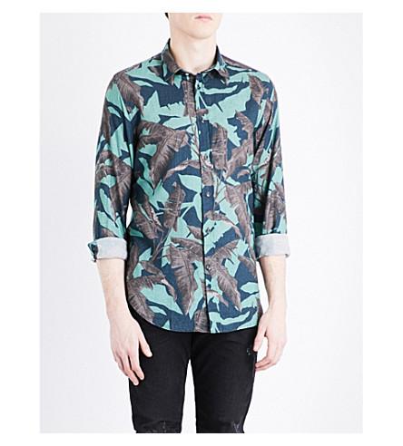DIESEL Dorado leaf-print cotton shirt (Ming