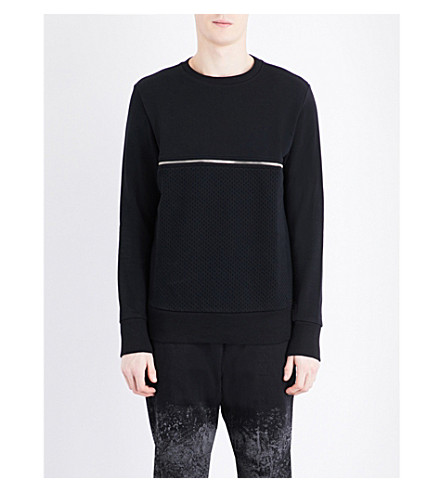 DIESEL S-Dry cotton-jersey sweatshirt (Black