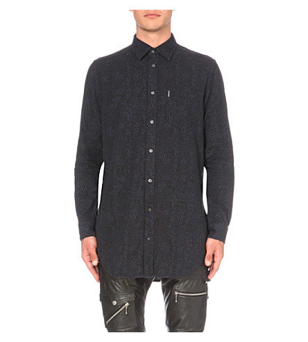 DIESEL S-filty regular-fit cotton shirt (Black