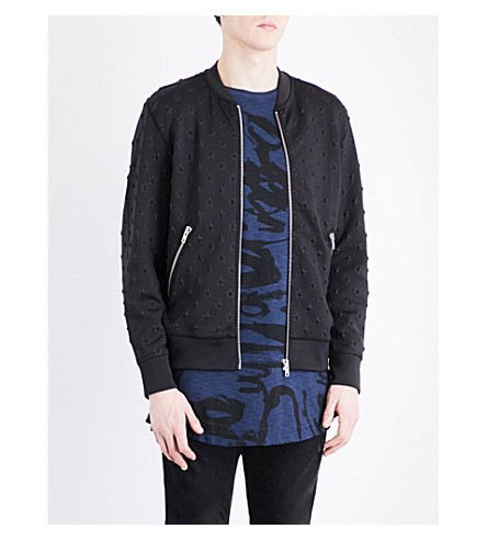 DIESEL Joe star-embellished bomber jacket (Black