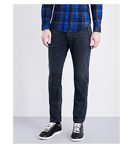 DIESEL Faded slim-fit tapered jeans (Black