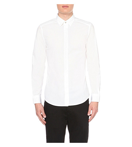 DIESEL S-nap exposed-button cotton shirt (White