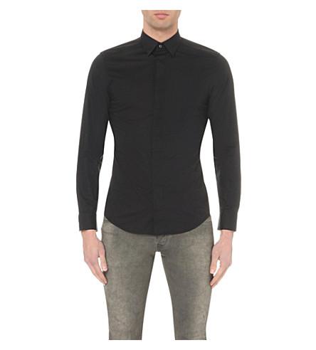 DIESEL S-nap concealed-button shirt (Black