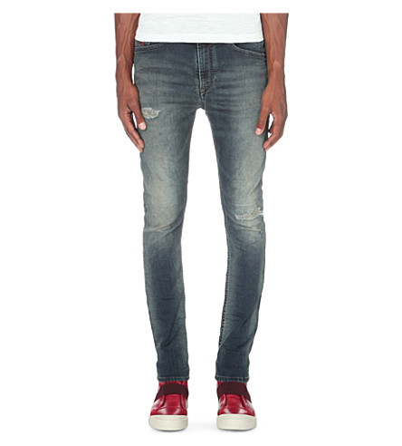 DIESEL Spender-ne 0676v slim-fit skinny joggjeans (Denim