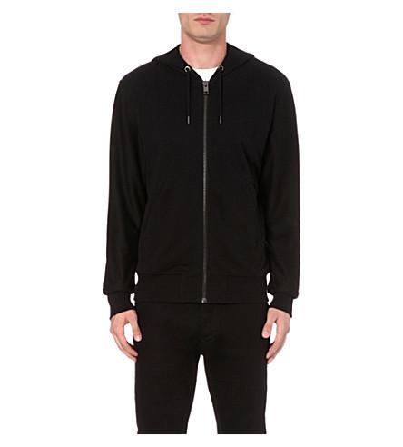 DIESEL S-pilot cotton-jersey hoody (Black