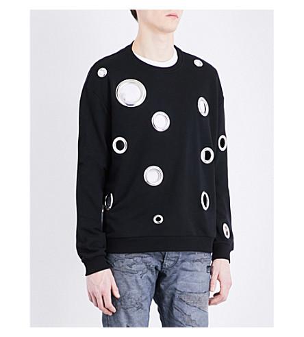 DIESEL S-wesley-ed cotton-jersey sweatshirt (Black