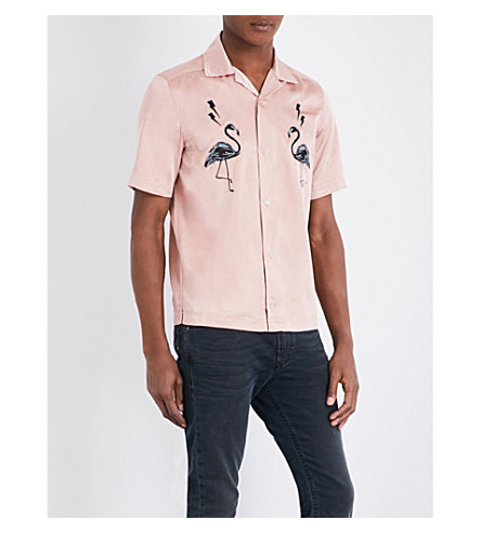 DIESEL S-westy-emb satin shirt (Misty+rose