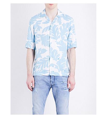 DIESEL S-westy cotton shirt (Milky+blue