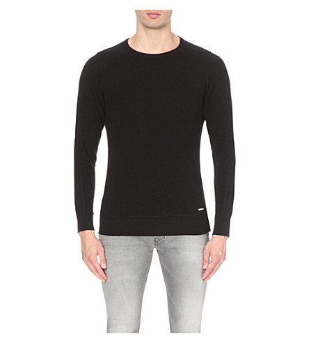 DIESEL S-willard cotton-jersey sweatshirt (Black