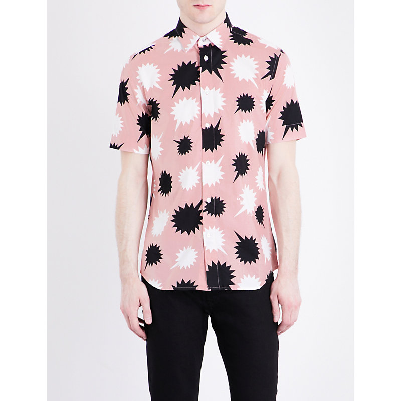 S-Willie speech bubble-print classic-fit cotton shirt