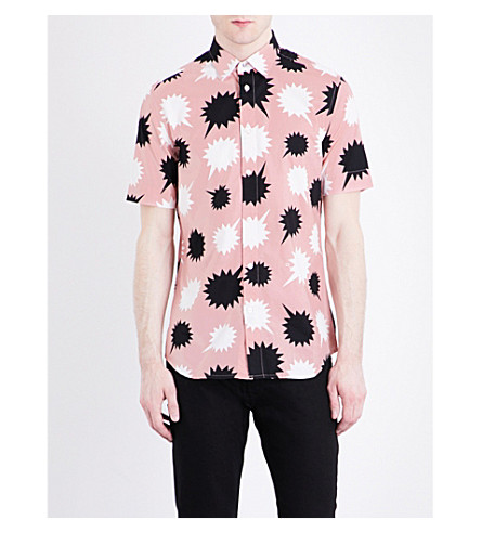 DIESEL S-Willie speech bubble-print classic-fit cotton shirt (Misty+rose