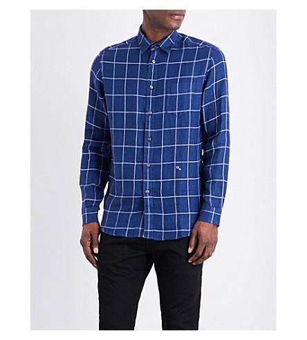 DIESEL S-wooch linen shirt (Peacoat+blue