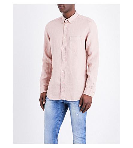 DIESEL S-woochs linen shirt (Misty+rose