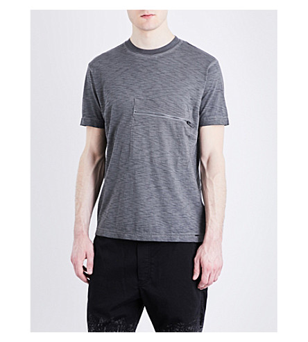 DIESEL T-Det Pocket-detail cotton-jersey T-shirt (Black