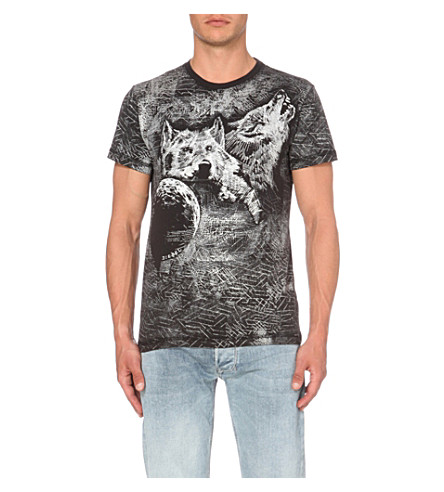 DIESEL T-diego cotton-blend T-shirt (Black