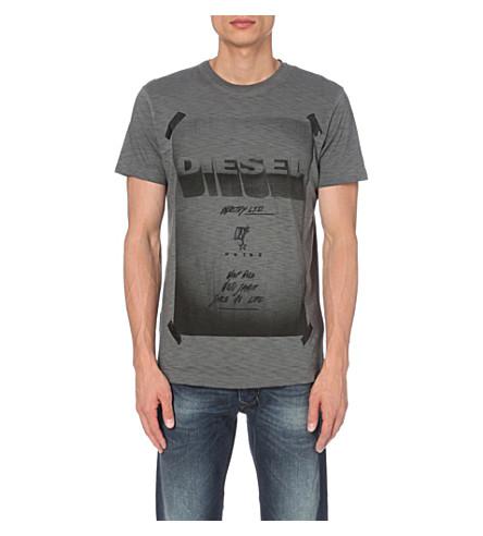 DIESEL T-diego-hn graphic-print cotton T-shirt (Black