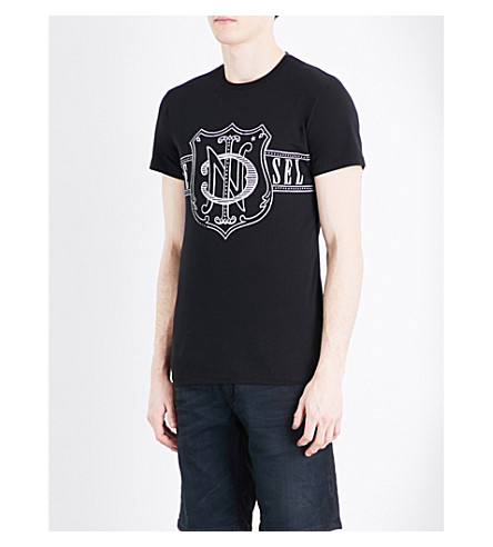 DIESEL T-Diego cotton-jersey T-shirt (Black
