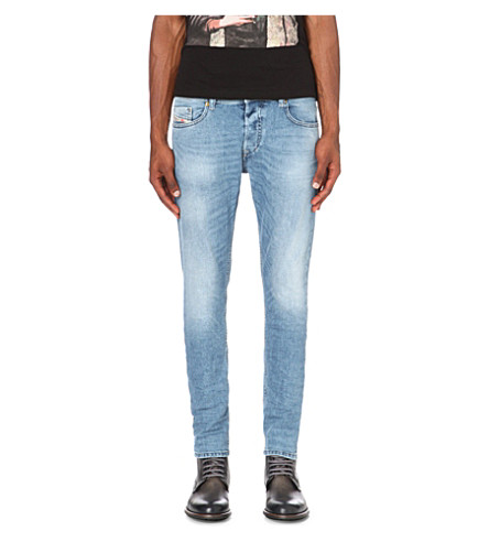 DIESEL Tepphar 0842 修身版型锥形牛仔裤 (牛仔布