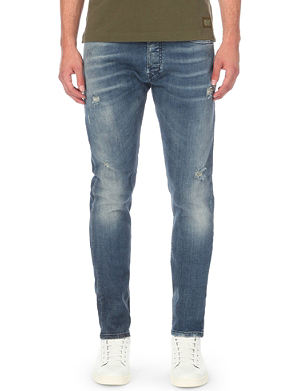 DIESEL Tepphar faded slim-fit tapered jeans