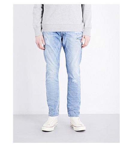 DIESEL Tepphar distressed slim-fit skinny jeans (Denim+blue
