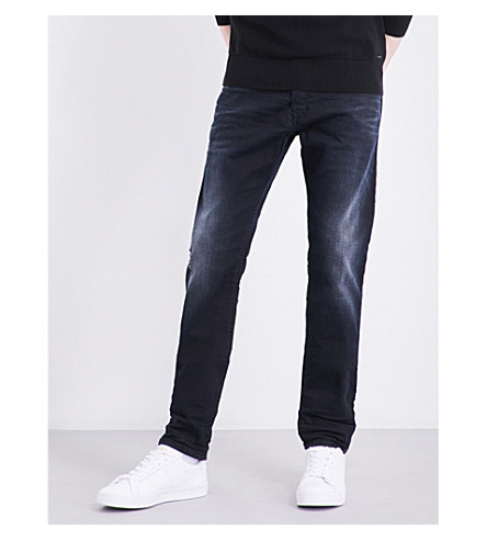DIESEL Tepphar 0679R straight mid-rise stretch-cotton jeans (Black
