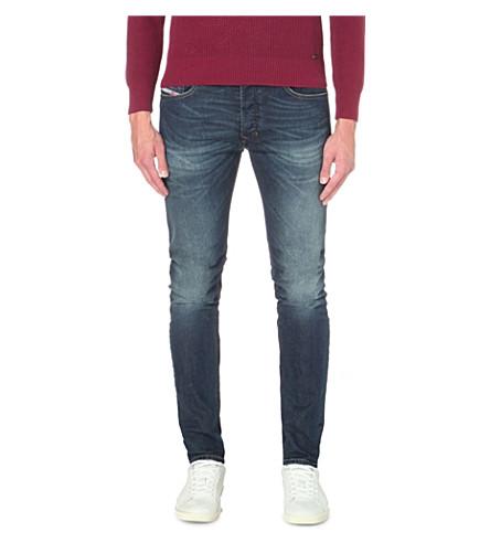 DIESEL Tepphar 修身版型锥形牛仔裤 (牛仔