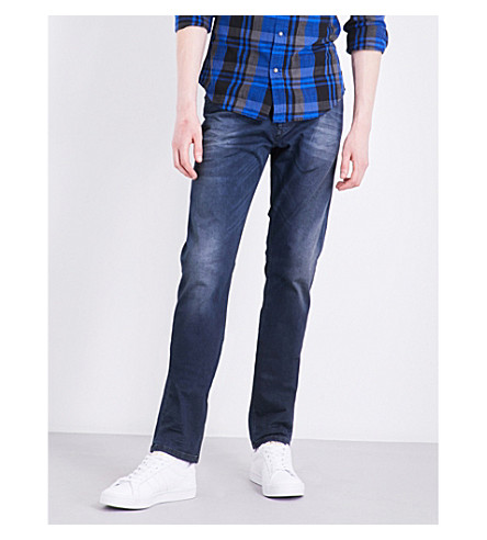 DIESEL Tepphar 0681H slim-fit mid-rise stretch-cotton jeans (Denim+blue