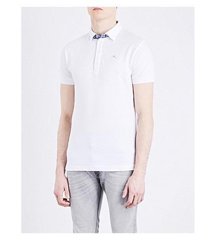 DIESEL T-free stretch-cotton polo shirt (Bright+white