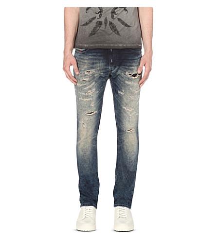 DIESEL Thavar 0674v slim-fit tapered jeans (Denim