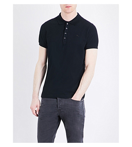 DIESEL T-heal stretch-cotton polo shirt (Black
