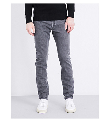 DIESEL Thommer slim-fit tapered jeans (Black