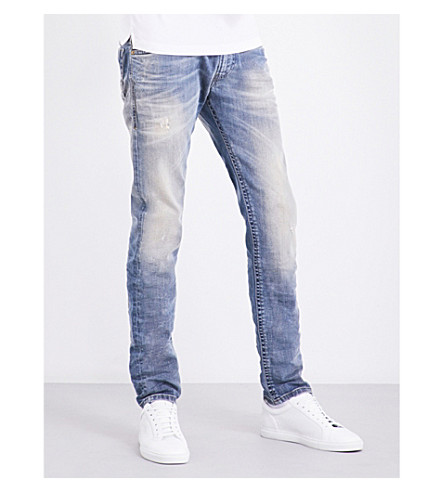 DIESEL Thommer 0845F slim-fit straight stretch-cotton jeans (Denim+blue