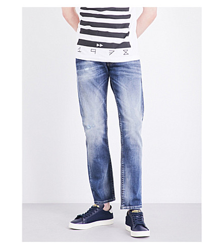 DIESEL Thommer 084DD slim-fit skinny stretch-cotton jeans (Denim+blue