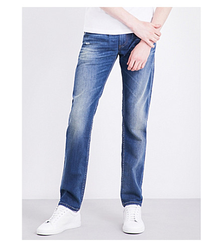 DIESEL Thommer 084DT slim-fit mid-rise stretch-cotton jeans (Denim+blue