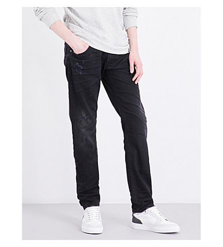 DIESEL Thommer slim-fit mid-rise tapered jeans (Denim+blue
