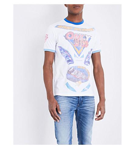 DIESEL T-joe-nb cotton-jersey T-shirt (Bright+white