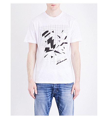DIESEL T-Joe cotton T-shirt (Bright+white