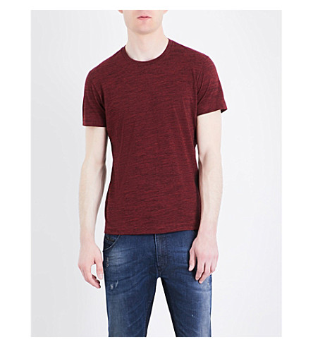 DIESEL T-sirio stretch-cotton T-shirt (Red