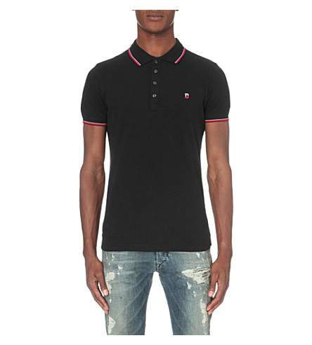 DIESEL T-skin polo shirt (Black