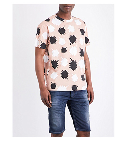 DIESEL T-wallace-nb cotton-jersey T-shirt (Bright+white