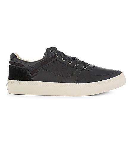 DIESEL V is for Diesel S-Spaark leather high-top sneakers (Black