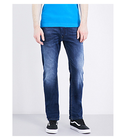 DIESEL Waykee 0679I regular-fit tapered jeans (Denim+blue