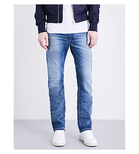 DIESEL Waykee regular-fit straight jeans (Denim+blue